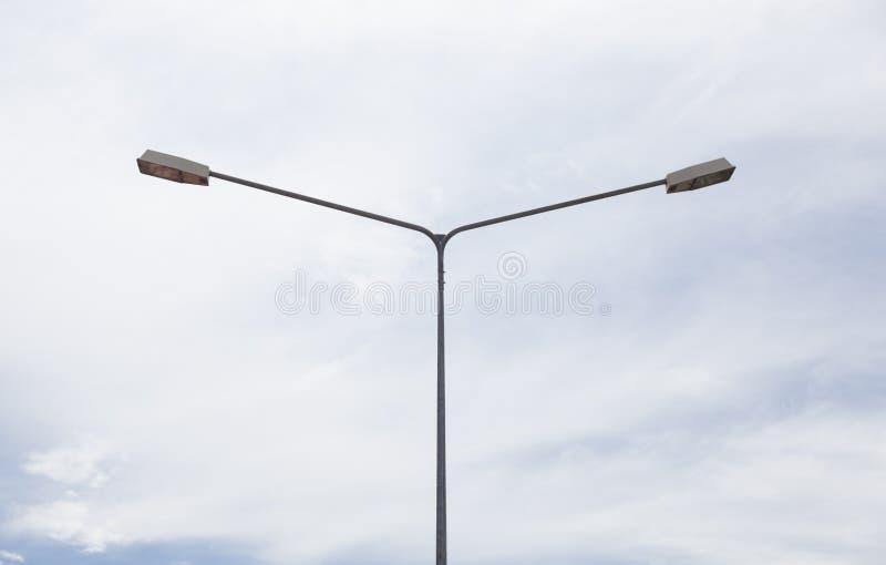 Освещение столба лампы стоковая фотография rf