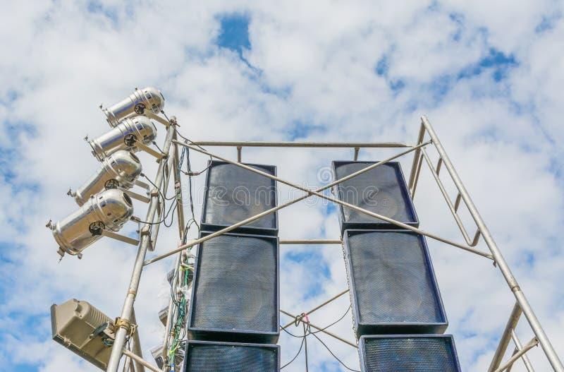 освещение этапа и ядровое оборудование стоковые изображения