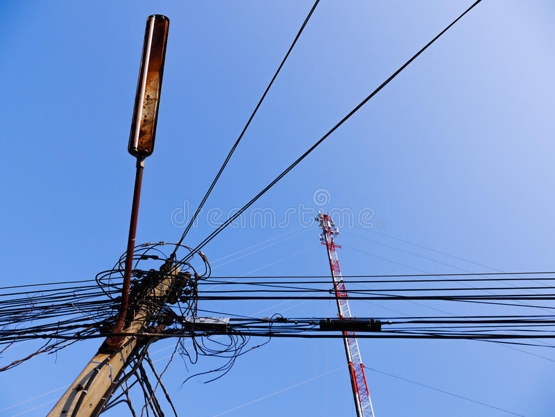 Освещение электрического провода старое стоковые изображения rf
