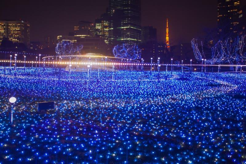 Освещения сезона рождества и зимы токио стоковое фото rf
