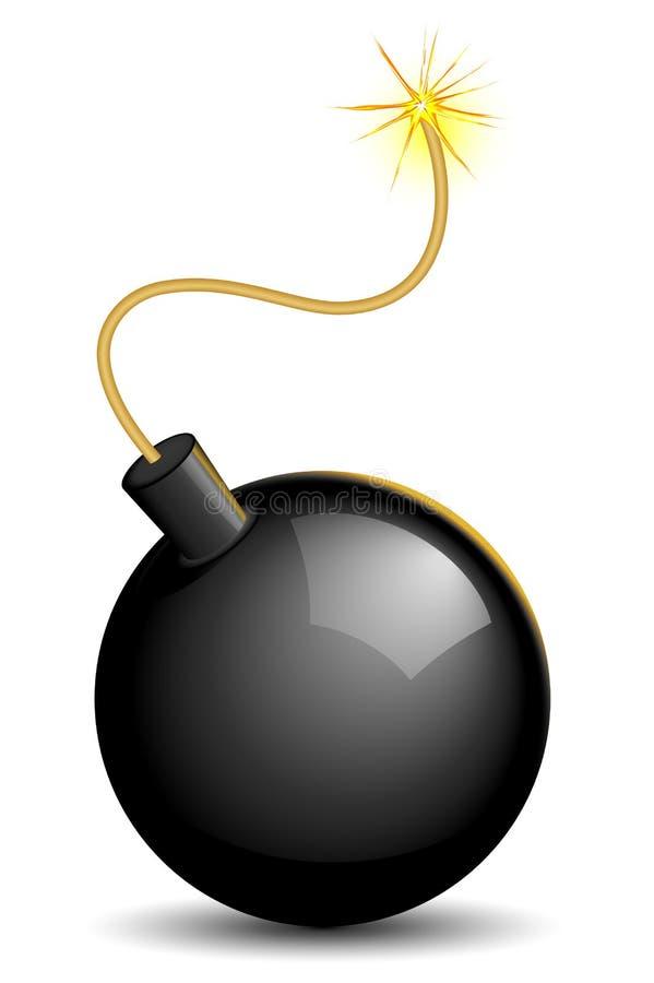 освещенная бомба иллюстрация штока