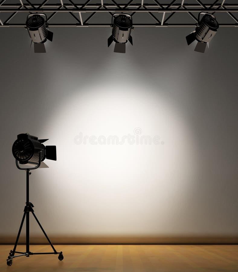 освещенная стена пятна иллюстрация вектора
