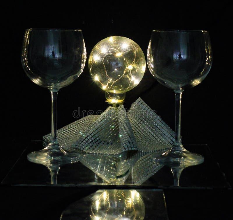 Освещенное стекло стоковое изображение