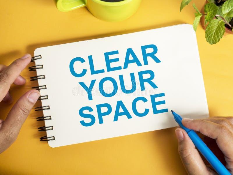 Освободите ваш космос, мотивационную концепцию цитат слов иллюстрация вектора