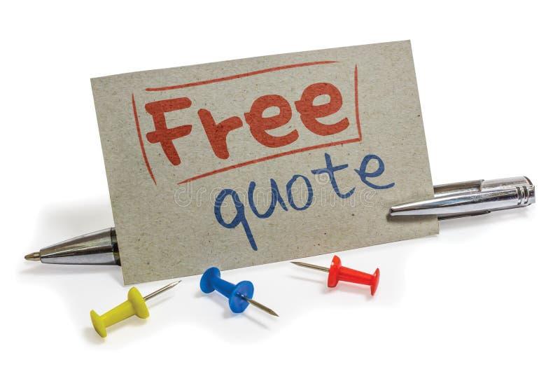 Освободите quote стоковые изображения