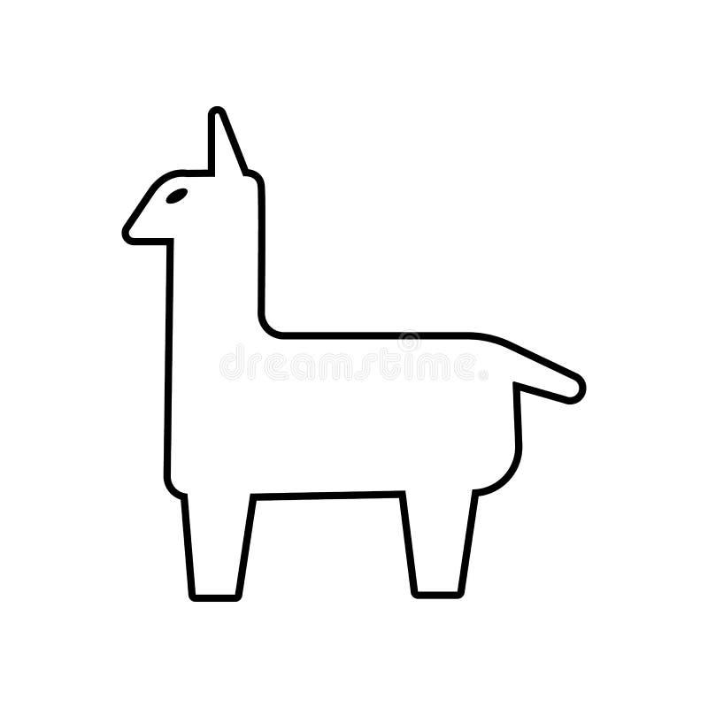 Осел Pinata со значком лент Элемент Мексики для мобильных концепции и значка приложений сети r бесплатная иллюстрация