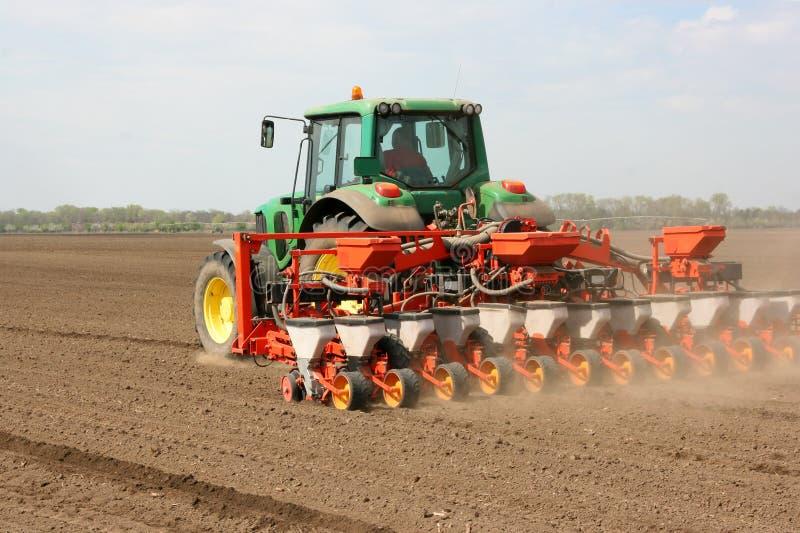 картинка трактор сеет пшеницу которые растут окружении