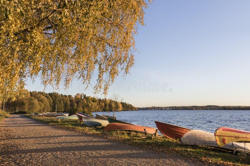 Осенняя набережная стоковое фото