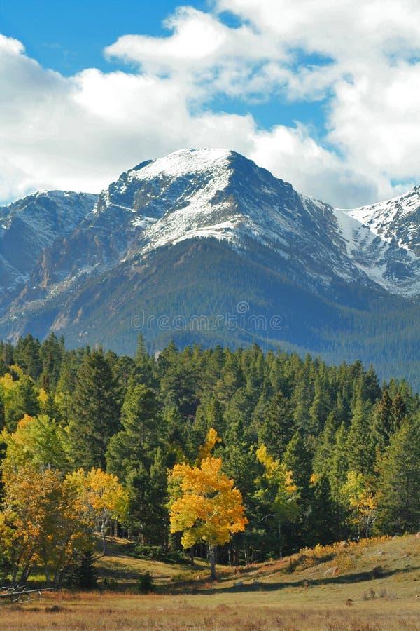 осень выступает снежное стоковое фото rf