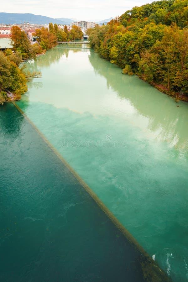 Осень в Женеве стоковые фото