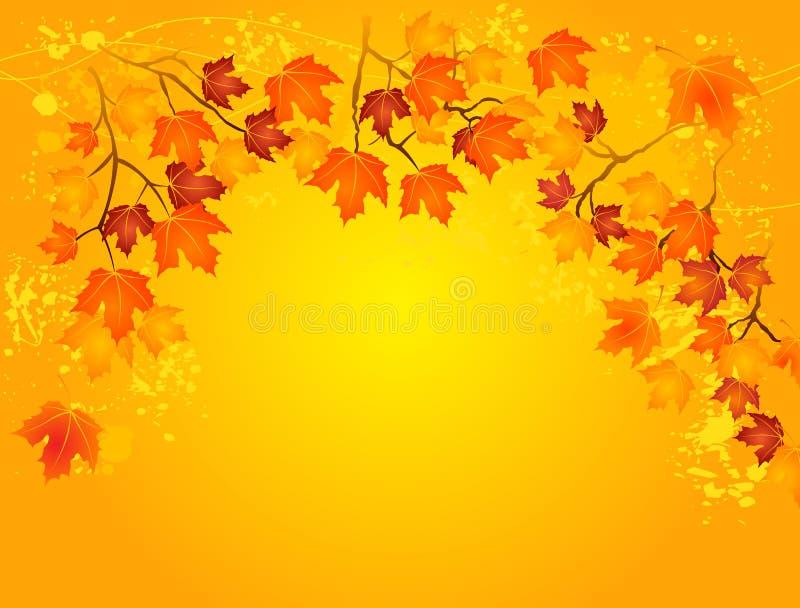 Осень в золоте иллюстрация штока