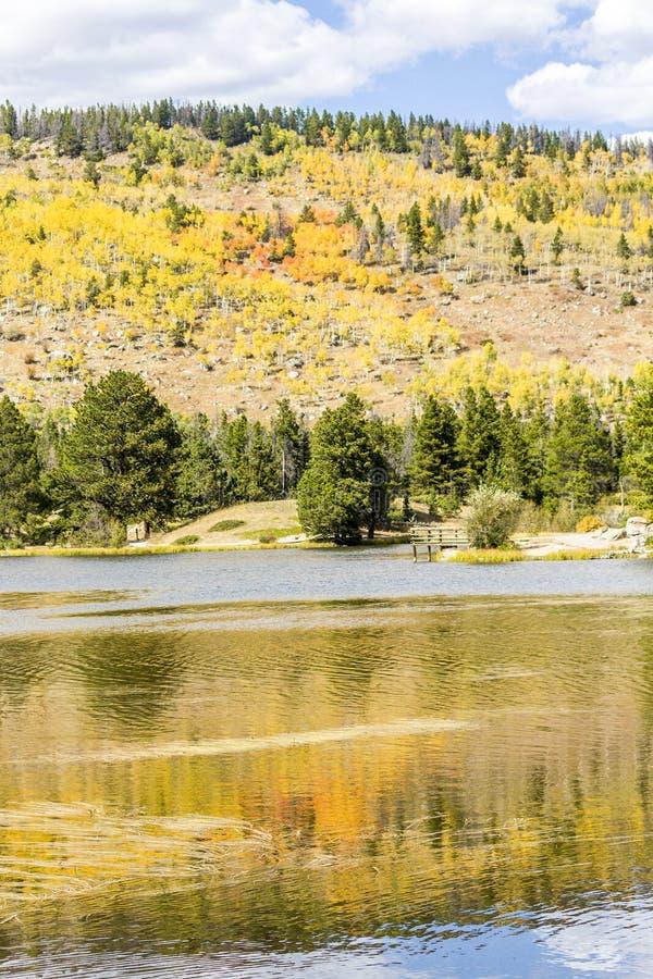 Осень в национальном парке скалистой горы стоковые изображения rf