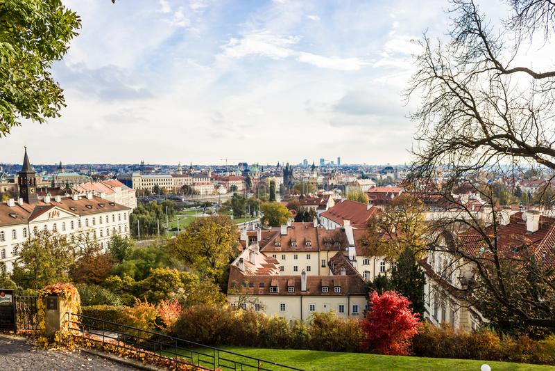 Осень в Праге, чехии, Европе стоковые фото