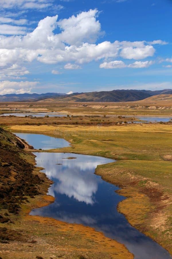 Осень в префектуре тибетца Gannan автономной стоковое фото