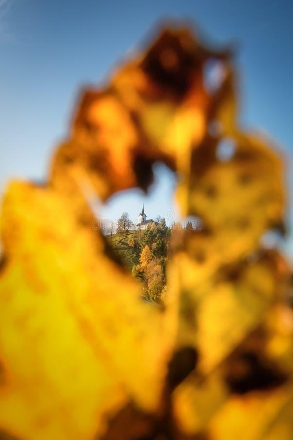 Осень в Свети-Якобе стоковая фотография rf