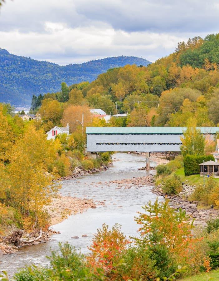 Осень в Saguenay, Квебек стоковые изображения