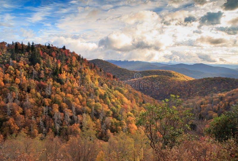 Осень гор Северной Каролины голубого Риджа стоковая фотография rf