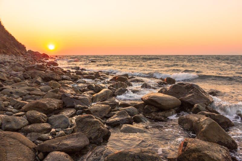 Осень залива захода солнца прозрачная стоковое фото rf