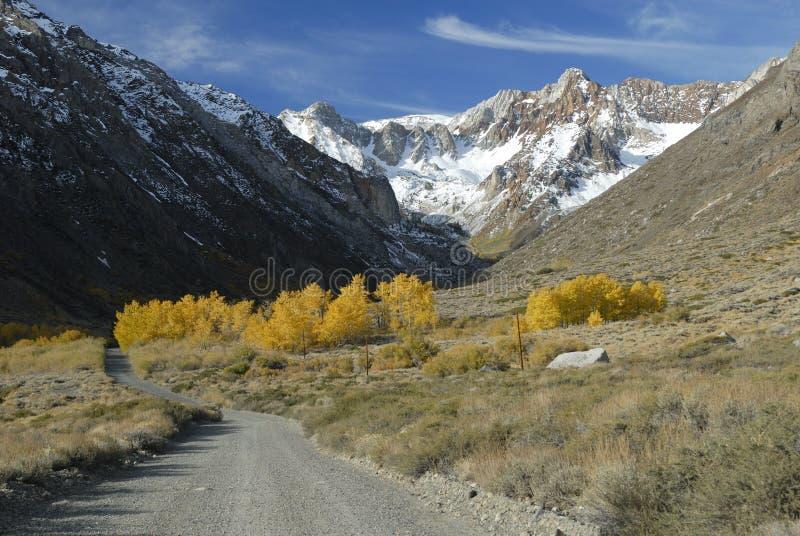 осень красит Сьерру Невады гор стоковое изображение rf
