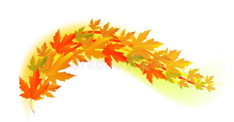 Осень Лист падения бесплатная иллюстрация