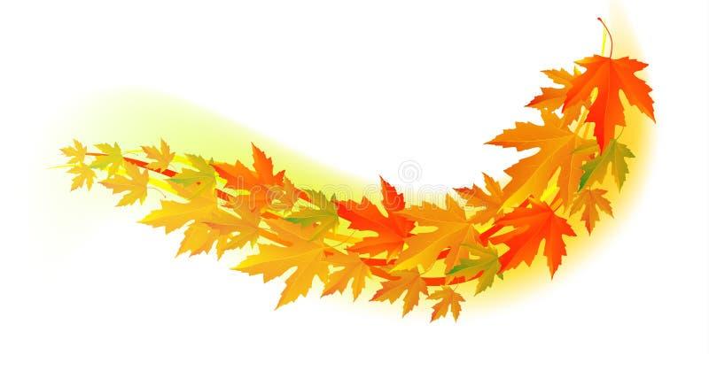 Осень Лист падения иллюстрация штока