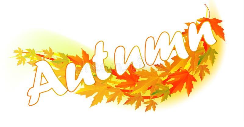 Осень Лист падения иллюстрация вектора