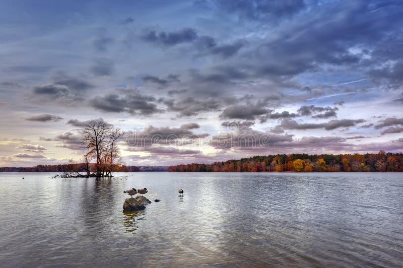 Осень на вороне озера стоковое изображение