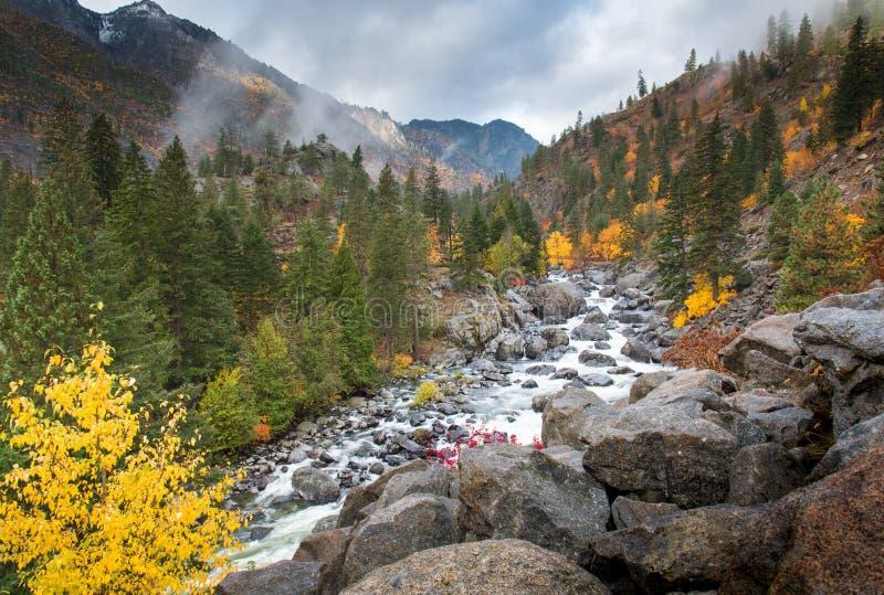 Осень на сосульке в Leavenworth стоковая фотография
