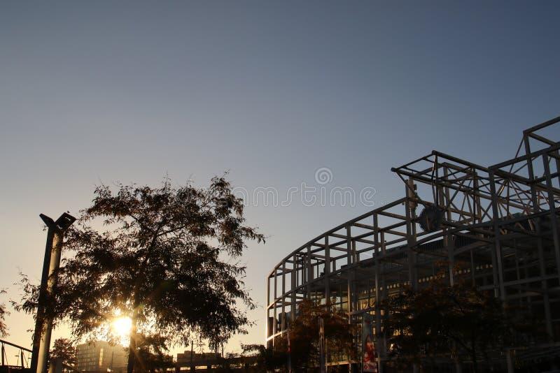 Осень на станции Лейдене стоковые изображения rf