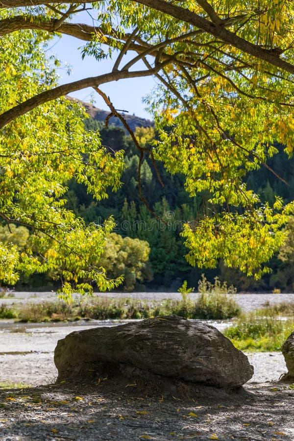 Осень на chanel городка стрелки стоковое изображение rf