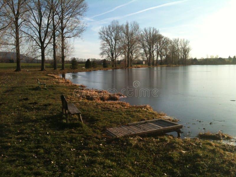 Осень озером стоковые фото