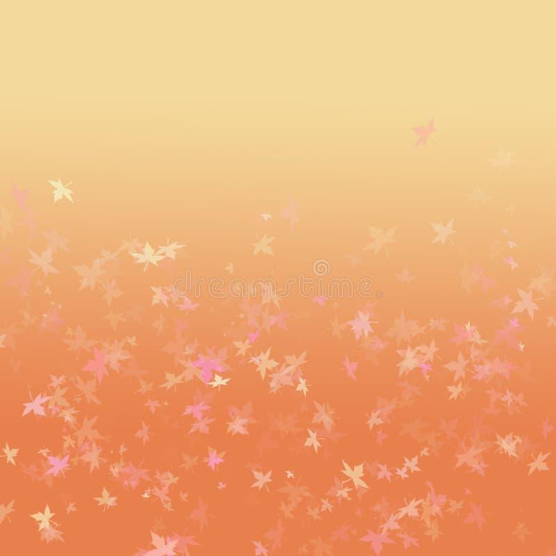 Осень предпосылки кленового листа оранжевая стоковая фотография