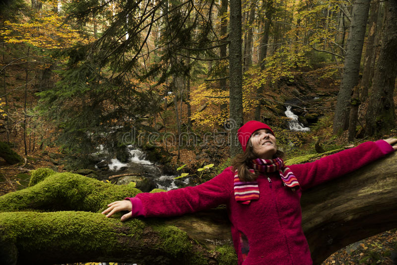 осень счастливая стоковые изображения rf