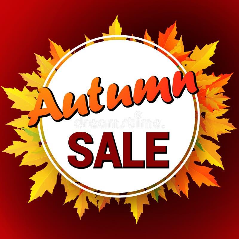 Осень типографская Лист падения бесплатная иллюстрация
