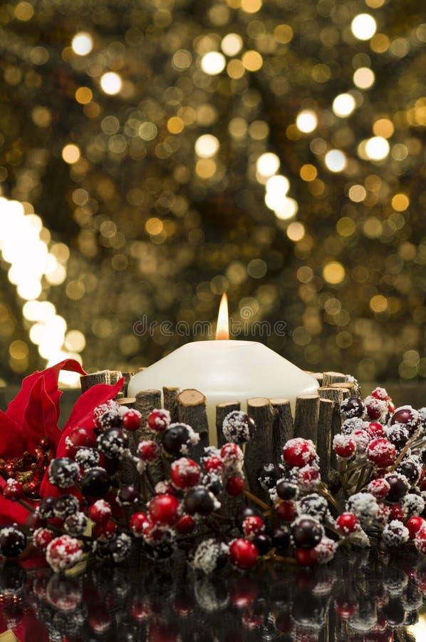 Осень украсила свечи стоковые изображения rf
