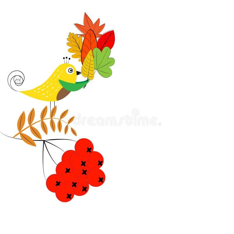 осень цветастая иллюстрация штока