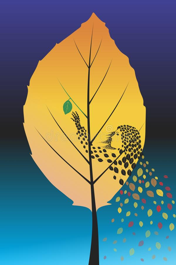 Осень иллюстрация вектора