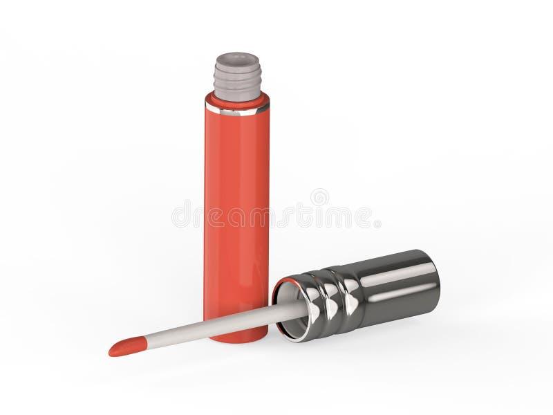 лоск губы пинка иллюстрации 3D красный бесплатная иллюстрация