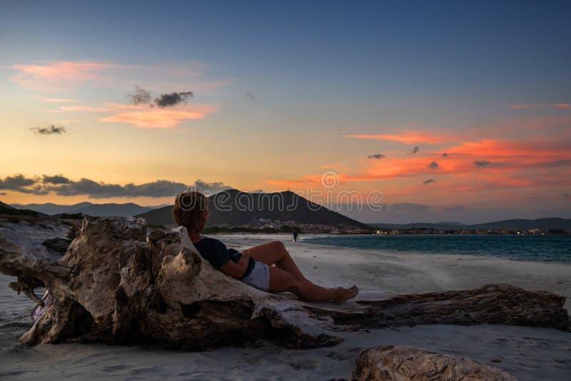 Ослабьте на каникулах в Сардинии стоковая фотография rf