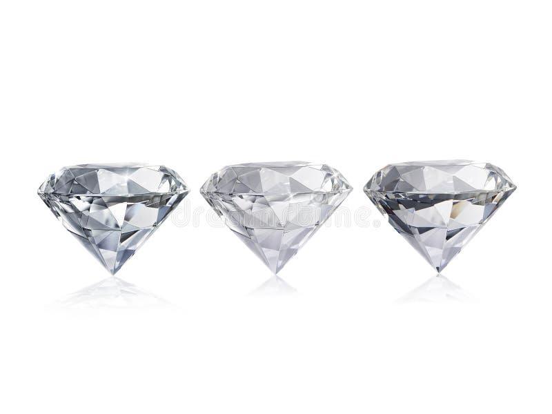 Ослеплять диамант на белой предпосылке стоковые фото
