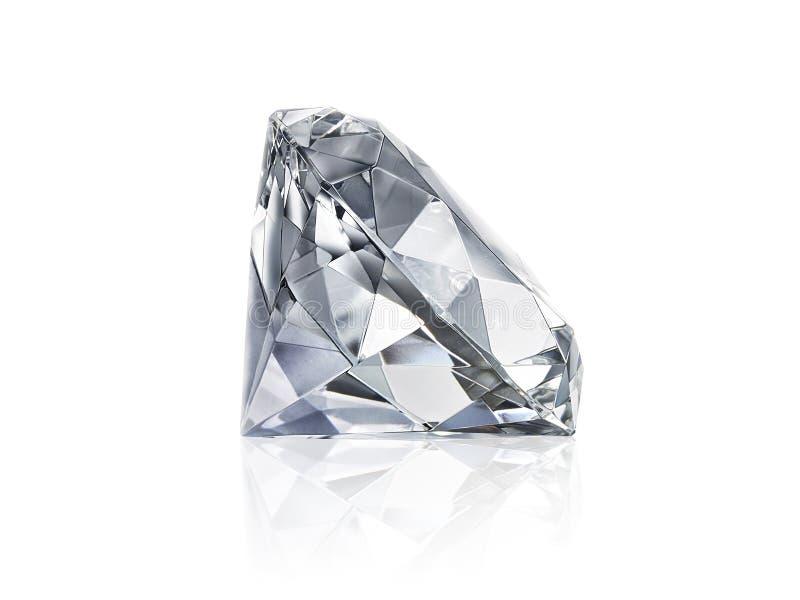 Ослеплять диамант на белой предпосылке стоковые изображения