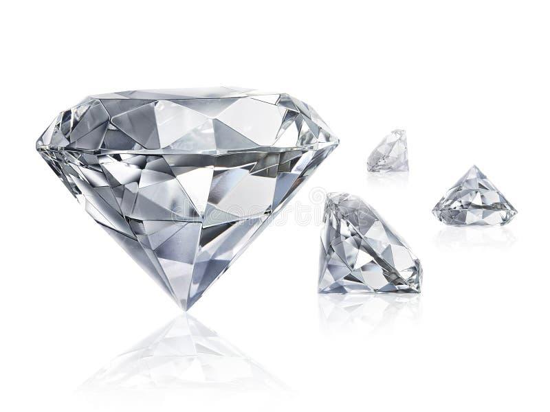 Ослеплять диамант на белой предпосылке стоковая фотография