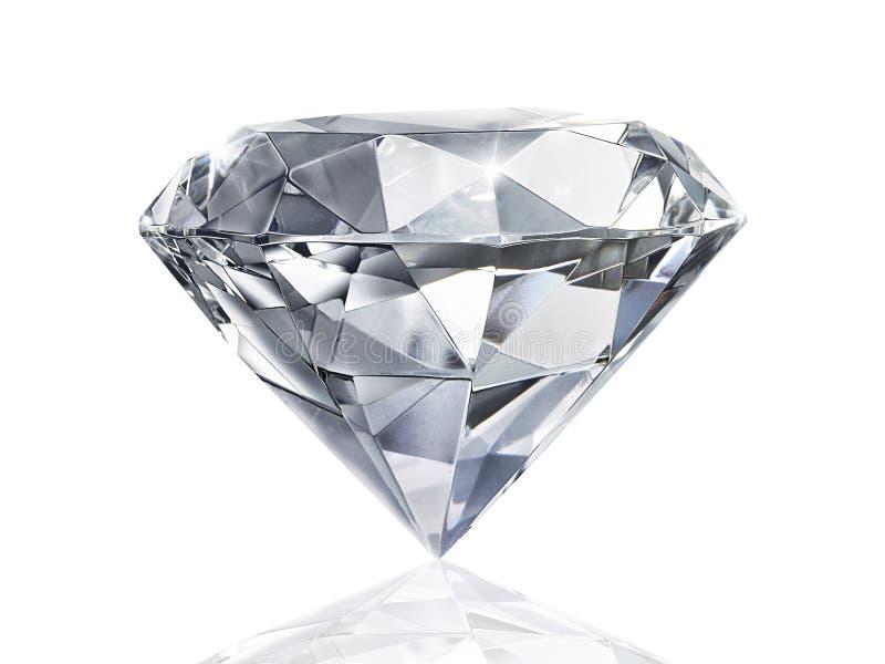 Ослеплять диамант на белой предпосылке стоковые фотографии rf