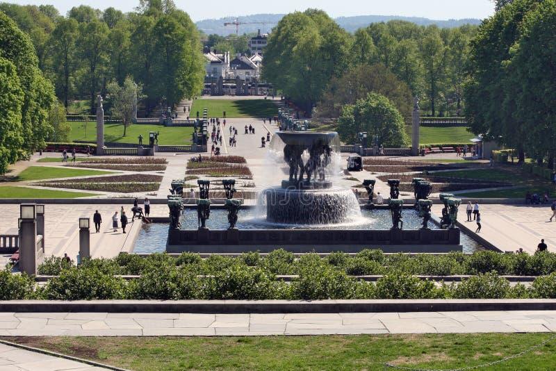 Осло, Норвегия - Frognerpark в центре Осло стоковые фотографии rf