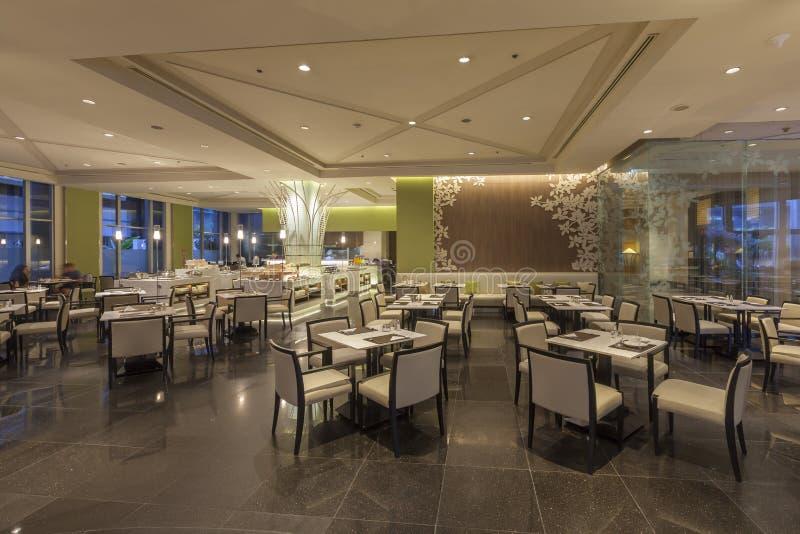 Осмотрите интерьер ресторана гостиницы на конвенции чуда грандиозной стоковая фотография
