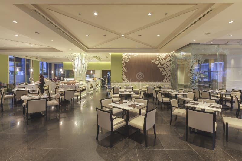 Осмотрите интерьер ресторана гостиницы на конвенции чуда грандиозной стоковое фото rf