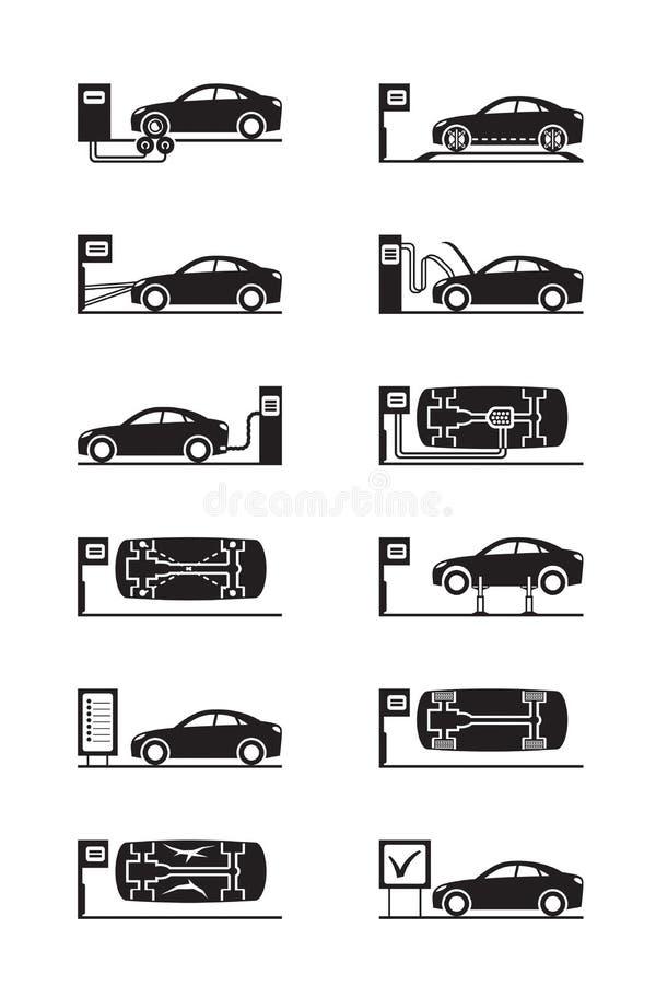 Осмотр безопасности автомобилей иллюстрация штока