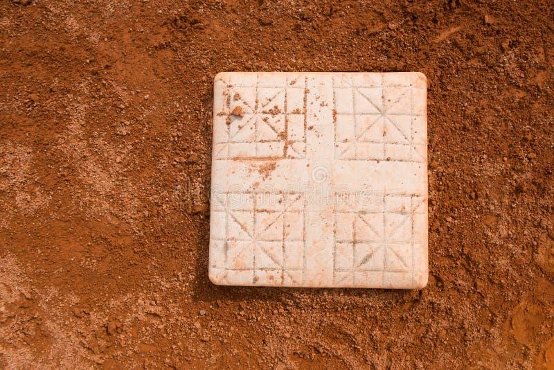 Основание в поле бейсбола стоковые фото