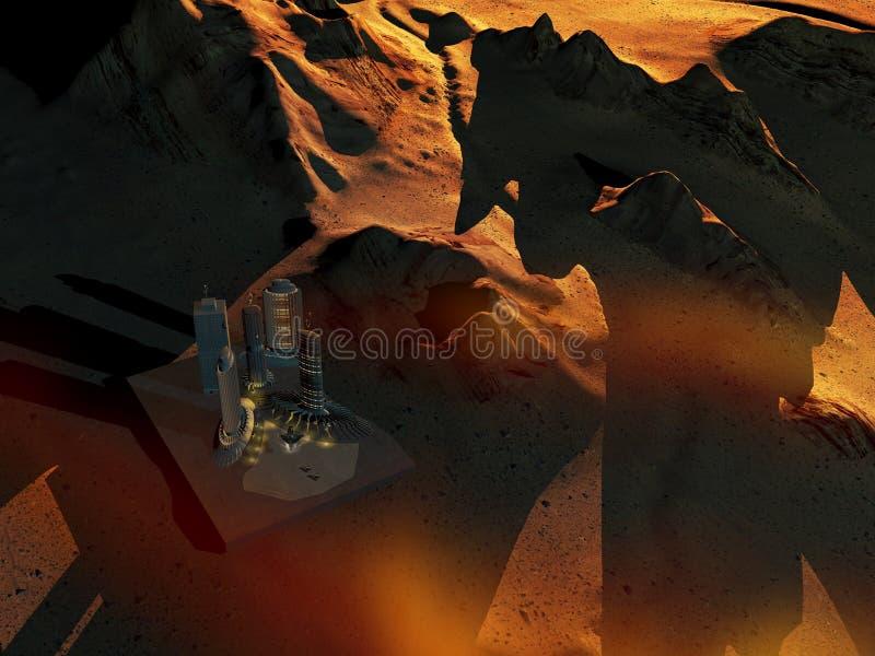 основание повреждает космос планеты иллюстрация вектора