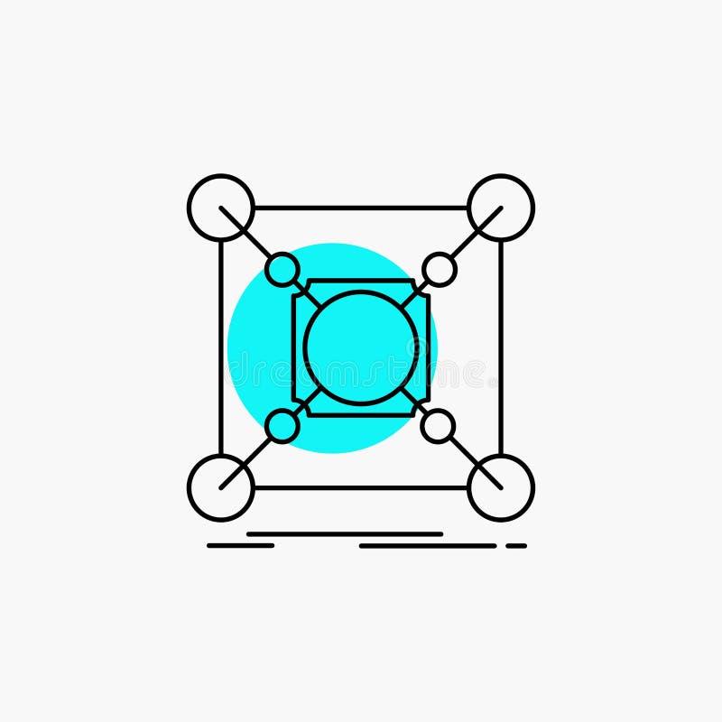Основание, центр, соединение, данные, линия значок эпицентра деятельности бесплатная иллюстрация